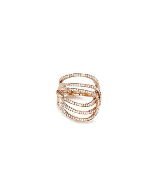 Repossi - Metallic 'la Ligne C' Diamond 18k Rose Gold Ring for Men - Lyst