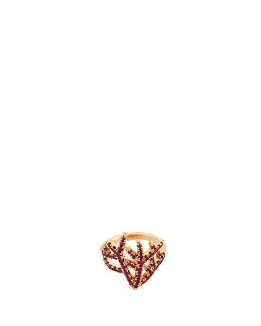 Tasaki | Metallic 'coral' Ruby 18k Gold Ring | Lyst