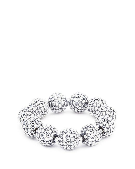 Kenneth Jay Lane | Metallic Glass Crystal Sphere Stretch Bracelet | Lyst