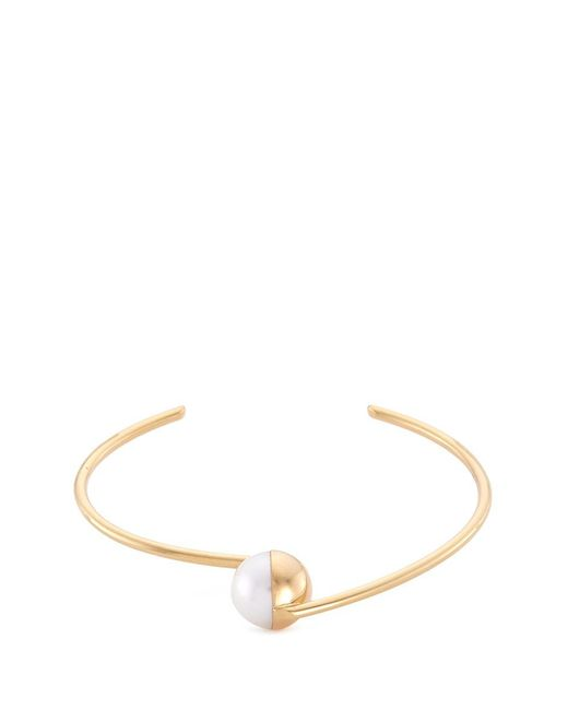 Tasaki | Metallic 'arlequin' Freshwater Pearl 18k Yellow Gold Bangle | Lyst