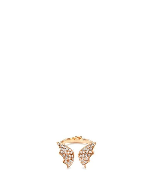 Stephen Webster | Metallic Diamond 18k Rose Gold Batmoth Open Ring | Lyst