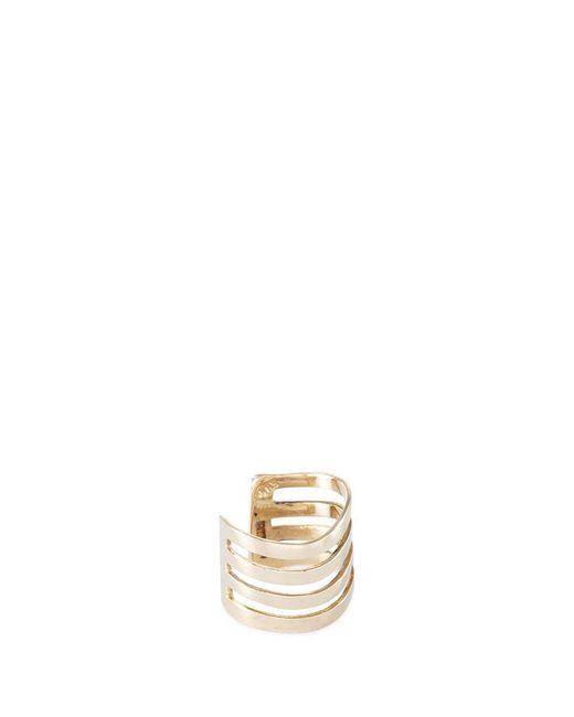 Lynn Ban - Metallic 'coil' 14k Gold Single Ear Cuff - Lyst