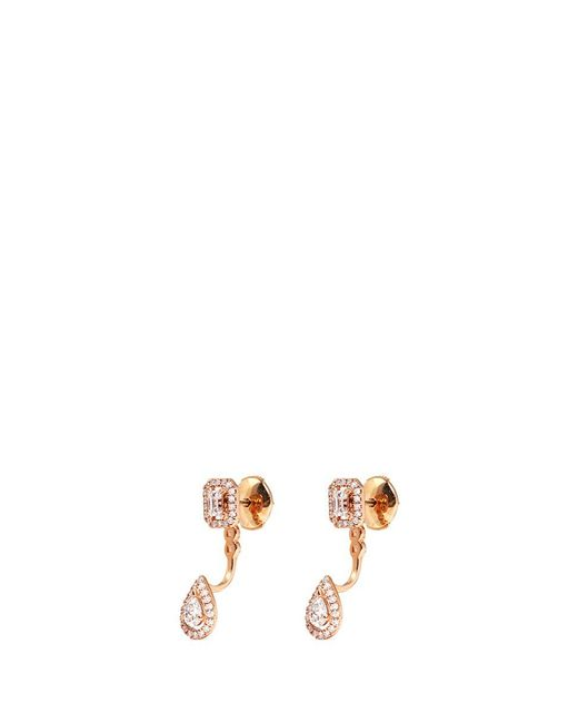 Messika | Metallic 'my Twin' Detachable Diamond 18k Rose Gold Earrings | Lyst