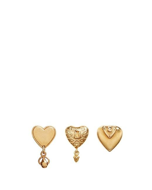 Chloé | Metallic Heart Stud Earring 3-piece Set | Lyst