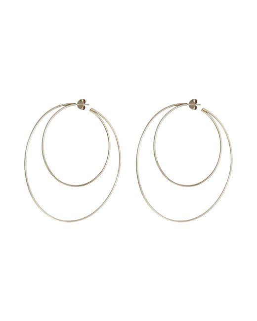 Lynn Ban - Metallic 'crescent Hoops' Silver Earrings - Lyst