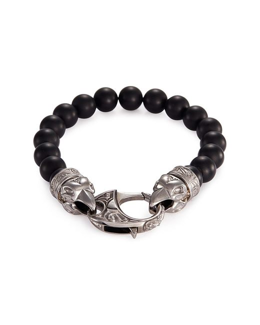 Stephen Webster - Metallic 'beasts Of London Raven Head' Onyx Bead Bracelet for Men - Lyst