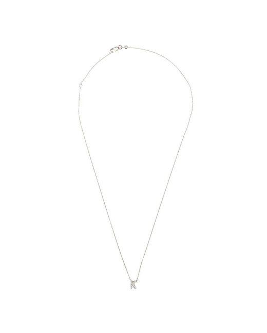 Roberto Coin - White 'love Letter' Diamond Pendant Necklace - K - Lyst