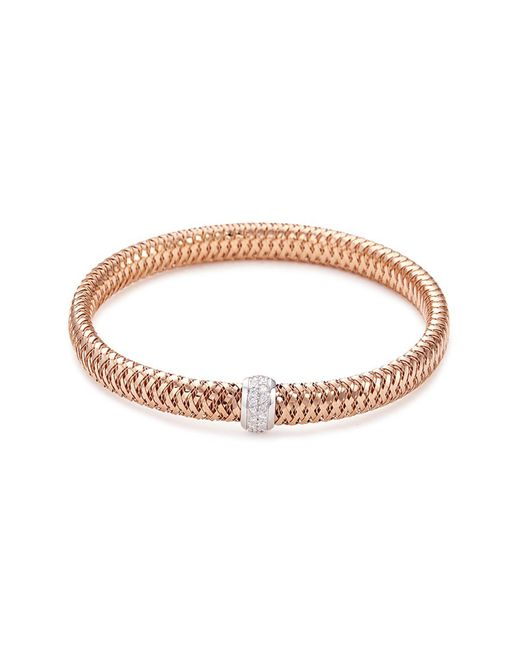 Roberto Coin - Metallic 'primavera' Diamond 18k Rose And White Gold Bracelet - Lyst