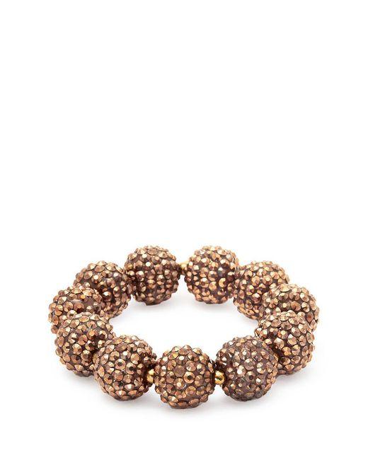 Kenneth Jay Lane - Multicolor Glass Crystal Sphere Stretch Bracelet - Lyst