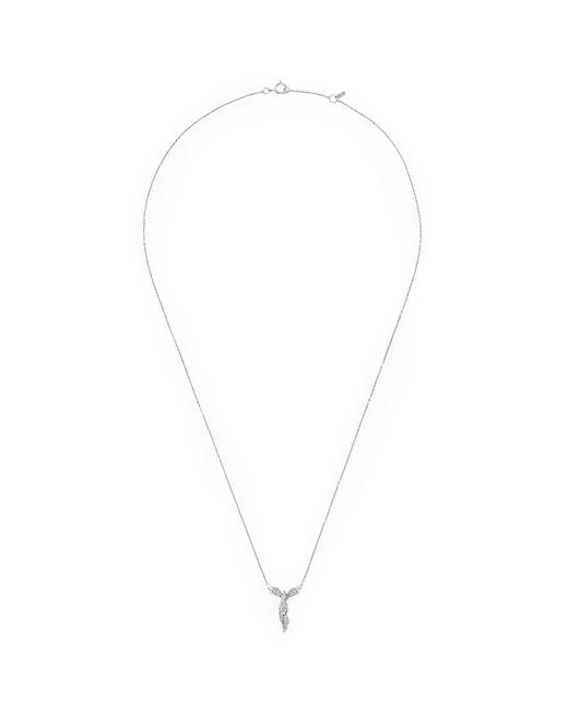 Bao Bao Wan | Metallic 'alto' Diamond 18k White Gold Angel Pendant Necklace | Lyst