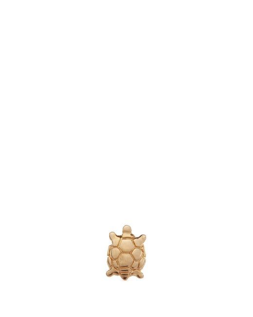 Loquet London - Metallic 'turtle' 14k Yellow Gold Single Stud Earring – Wisdom - Lyst