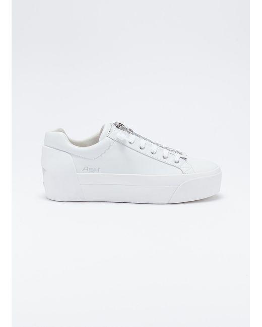 c186d3e47617 Lyst ash buzz zip leather platform sneakers in white jpeg 520x650 Buzz  platform