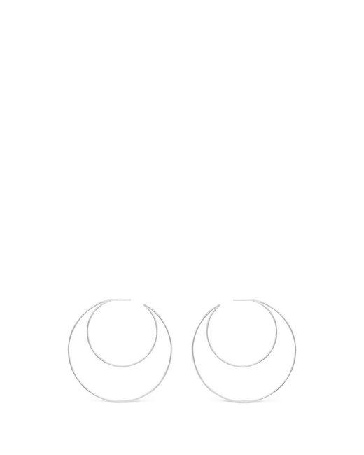 Lynn Ban | Metallic 'crescent Hoops' Sterling Silver Earrings | Lyst
