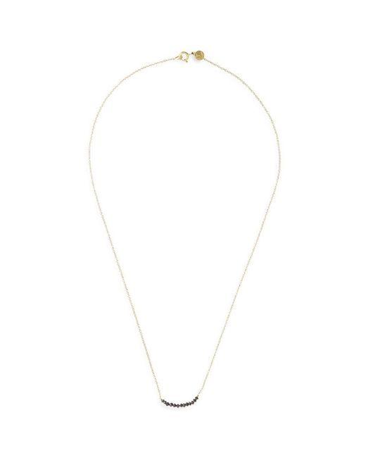 Ila & I - Black 'chelsea' Diamond 14k Gold Necklace - Lyst