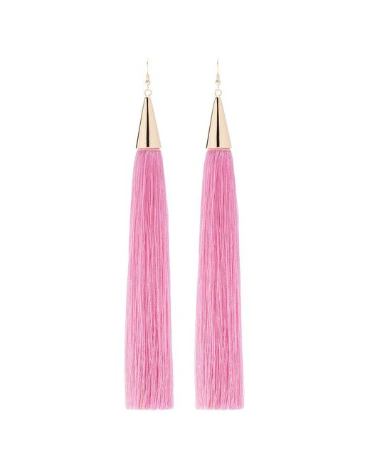 Eddie Borgo | Pink Long Silk Tassel Earrings | Lyst