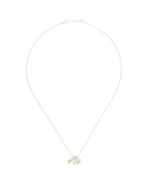 Bao Bao Wan | Metallic Axe Pendant Diamond Pavé 18k Gold Necklace | Lyst