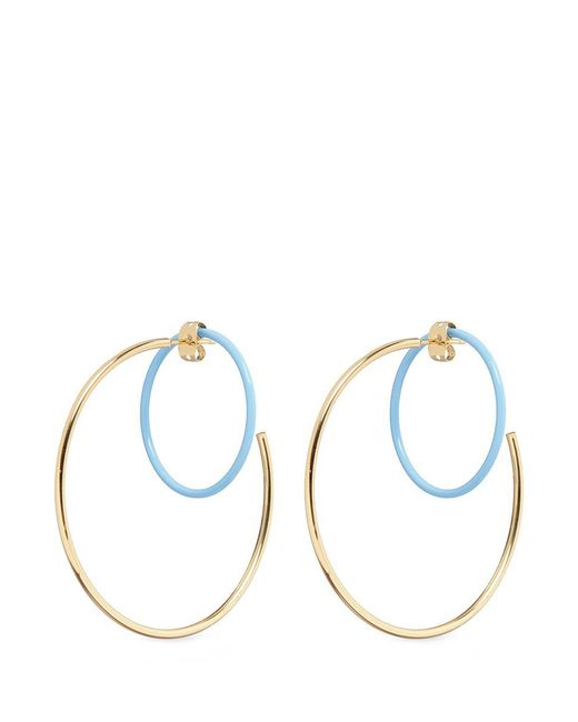 Elizabeth and James   Multicolor 'rene' Colourblock Hoop Earrings   Lyst