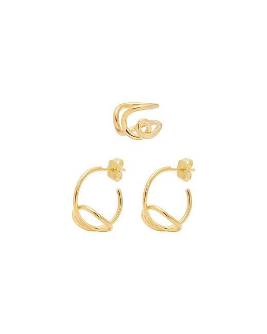 Joanna Laura Constantine - Metallic 'knot' Earrings Set - Lyst
