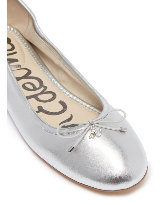 85208568689b1 ... Sam Edelman - Metallic  felicia  Leather Ballet Flats - Lyst