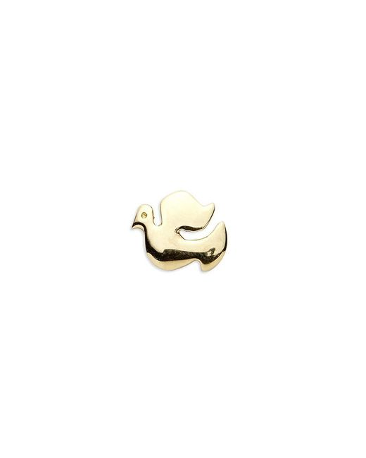 Loquet London - Gray 18k Yellow Gold Dove Charm - Spread Your Wings - Lyst