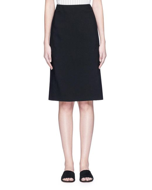 Vince - Black Ponte Jersey Pencil Skirt - Lyst