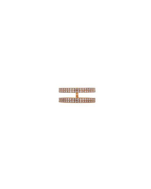 Repossi - Metallic 'berbère' Diamond 18k Rose Gold Double Row Phalanx Ring - Lyst