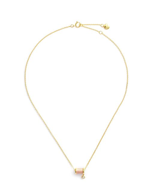HEFANG - Pink 'aurora' Cubic Zirconia Thread Spindle Necklace - Lyst