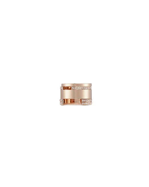 Dauphin - Metallic Diamond 18k Rose Gold Wide Cutout Ring - Lyst