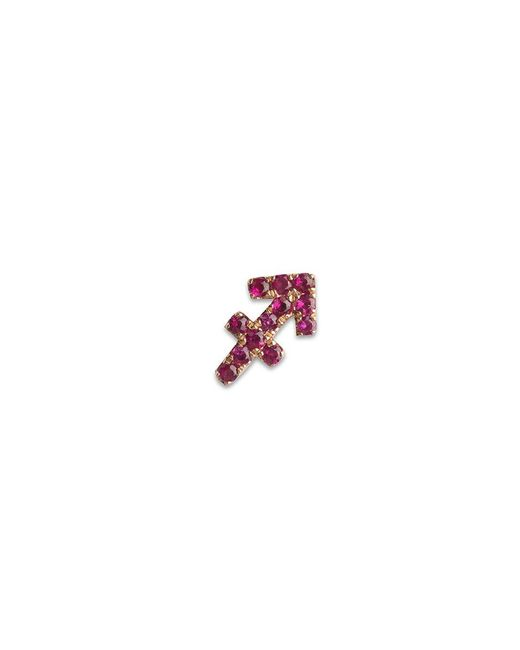 Loquet London - Red 18k Rose Gold Ruby Zodiac Charm - Sagittarius - Lyst