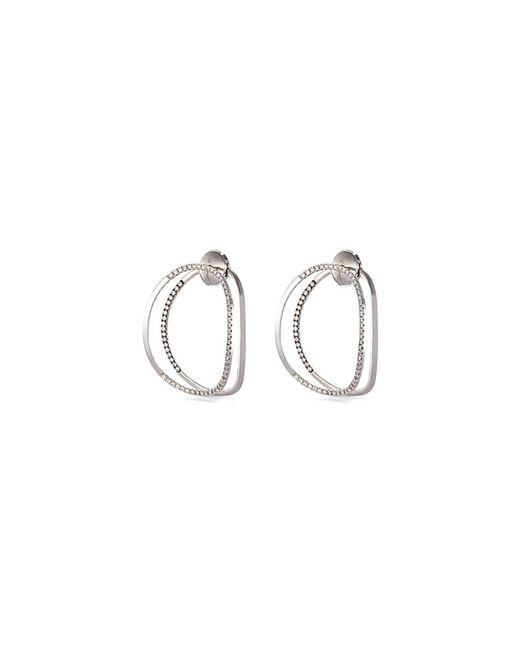 Delfina Delettrez - Metallic 'little Earclipse' Diamond 18k White Gold Earrings - Lyst