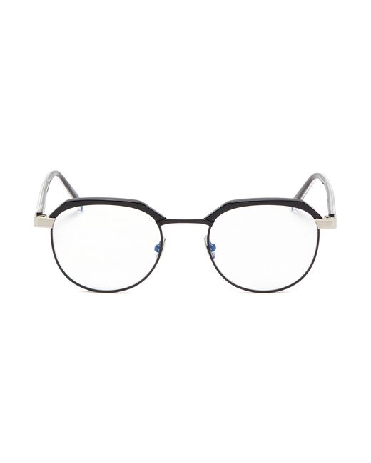 6cd74f9ed0 Saint Laurent - Multicolor Metal Rim Acetate Round Optical Glasses for Men  - Lyst ...