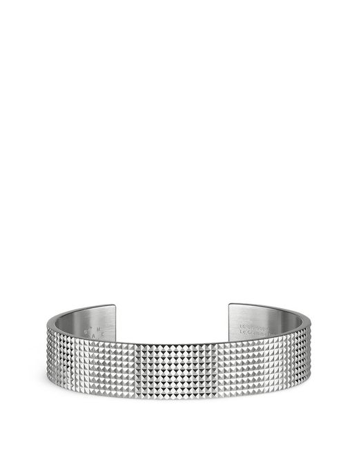 Le Gramme | Metallic 'guilloché Le 41 Grammes' Stud Sterling Silver Cuff for Men | Lyst
