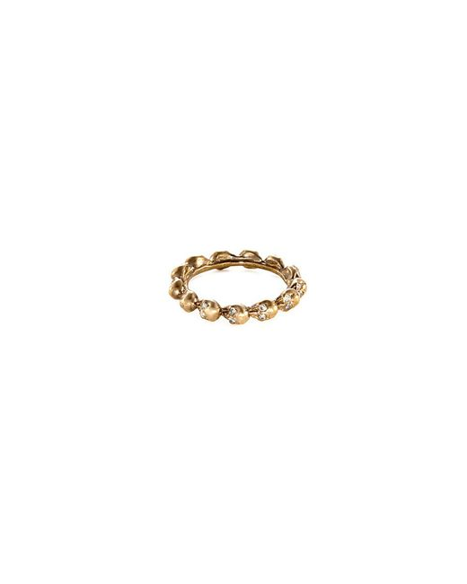 Delfina Delettrez - Metallic Diamond 18k Yellow Gold Skull Ring - Lyst