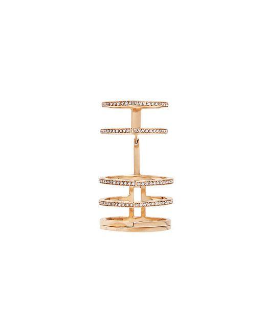 Repossi - Metallic 'antifer' Diamond Pavé 18k Rose Gold Six Row Linked Ring - Lyst