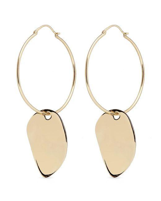 Elizabeth and James | Metallic 'ivy' Hoop Sculptural Drop Earrings | Lyst