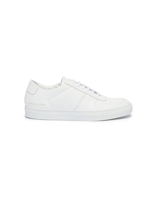 8d59014b0725 Lyst - Common Projects  bball Low  Leather Sneakers in White for Men