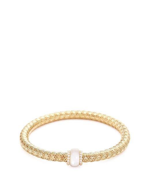 Roberto Coin | Metallic 'primavera' Diamond Mother Of Pearl 18k Yellow Gold Bracelet | Lyst
