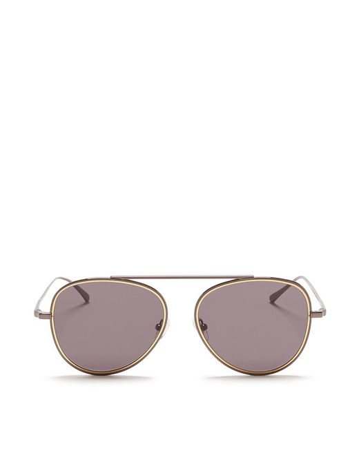 Stephane + Christian | Metallic 'h.906' Aviator Metal Sunglasses | Lyst
