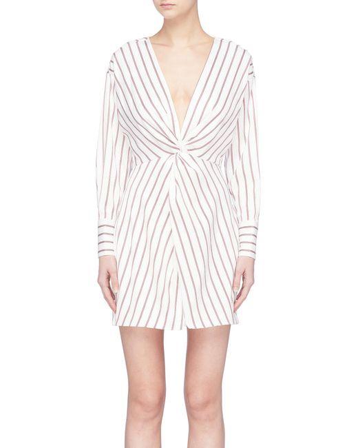 Nicholas - Multicolor Twist Front Stripe Dress - Lyst