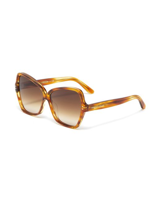 86d9495fa2c Céline - Brown Oversized Tortoiseshell Acetate Butterfly Sunglasses - Lyst  ...