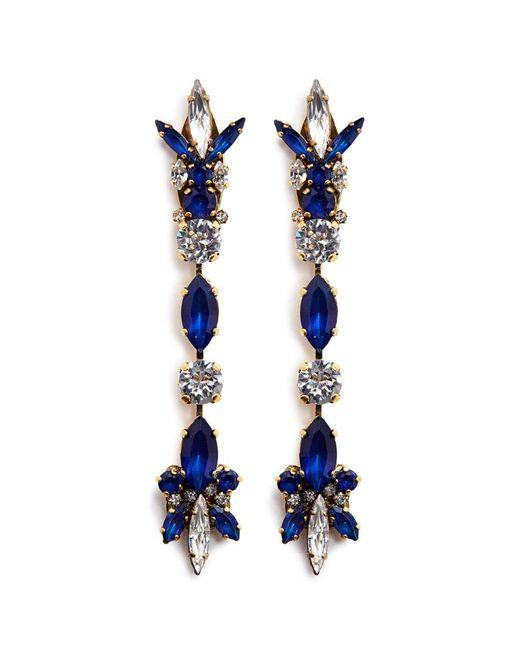 Erickson Beamon | Blue 'silver Screen' Swarovski Crystal Linear Drop Earrings | Lyst