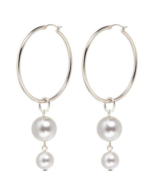 Joomi Lim | Metallic Swarovski Pearl Detachable Drop Hoop Earrings | Lyst