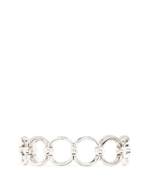 Philippe Audibert | Metallic 'alyssa' Silver Plated Cutout Link Cuff | Lyst
