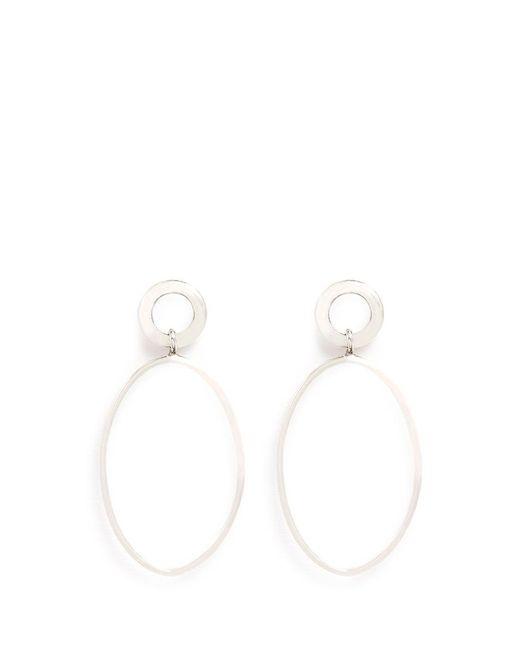 Philippe Audibert | Metallic Oval Ring Drop Earrings | Lyst