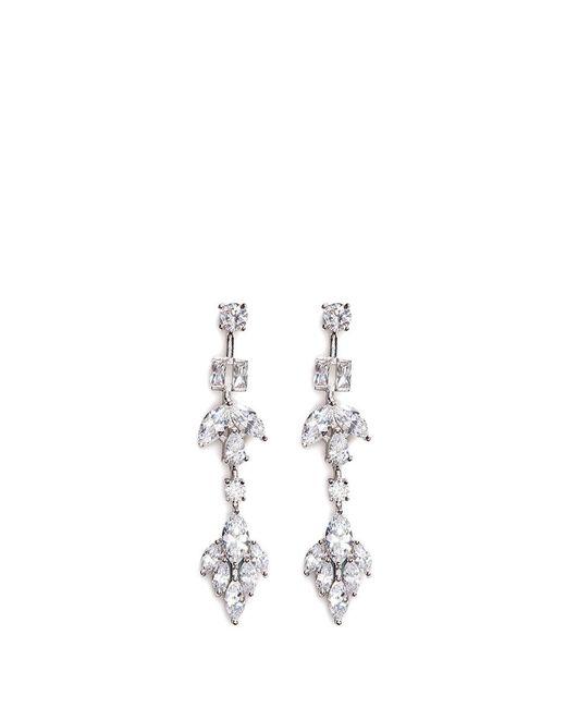 CZ by Kenneth Jay Lane | White Cubic Zirconia Link Earrings | Lyst