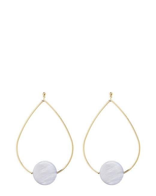 Elizabeth and James | Metallic 'charlotte' Coin Charm Teardrop Hoop Earrings | Lyst