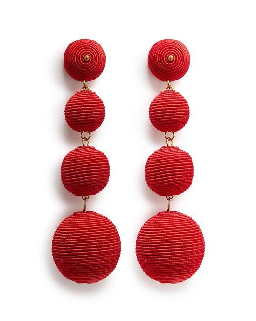 Kenneth Jay Lane | Red 'carnival' Threaded Sphere Drop Earrings | Lyst