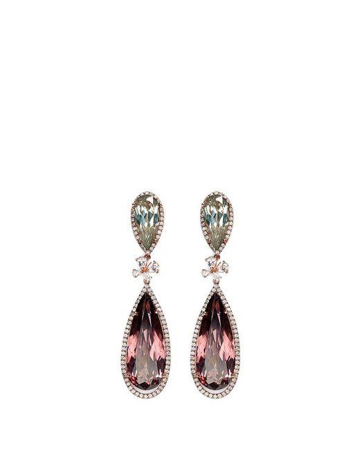 Anabela Chan | Metallic 'papillon' Diamond Tourmaline 18k Gold Detachable Drop Earrings | Lyst