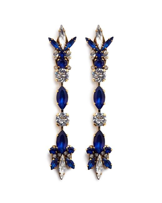 Erickson Beamon | Blue 'silver Screen' Swarovski Crystal Linear Drop Earrings | Lyst