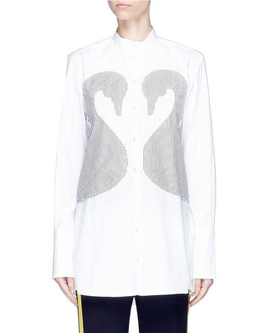 Victoria, Victoria Beckham | White Swan Appliqué Cotton Shirt | Lyst